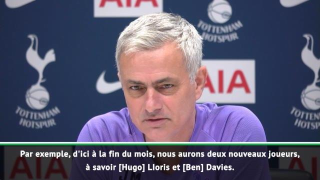 Tottenham - Mourinho compte sur Lloris et Davies d'ici à la fin du mois