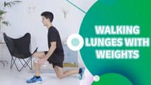 Walking lunges with weights - Fit People
