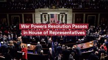 War Powers Resolution Passes