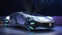 Mercedes-Benz VISION AVTR on stage at the CES 2020