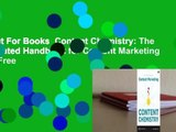 About For Books Content Chemistry: The Illustrated Handbook for Content Marketing For Free