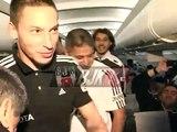 Beşiktaşlı oyuncular uçakta döktürdü!