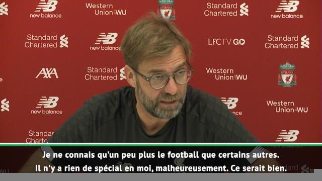 """Liverpool - Klopp : """"Il n'y a rien de spécial en moi, malheureusement"""""""