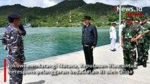 Detik-Detik Presiden Jokowi Kunjungi Natuna, Tegaskan Hak Berdaulat RI