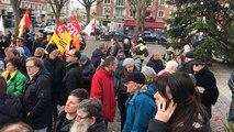 Manifestation pour les retraites à Lisieux