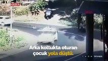 Otomobilden yola düşen çocuk ölümden döndü