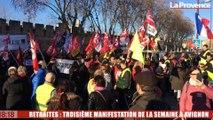 Retraites : à Avignon, quelques centaines de manifestants