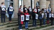 Environ 500 manifestants contre la réforme des retraites