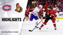 NHL Highlights | Canadiens @ Senators 01/11/20