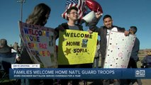 Families welcome home National Guard troops in Phoenix