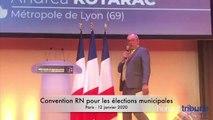 PARIS / SETE - Intervention de Sébastien PACULL à la convention nationale des municipales du RN