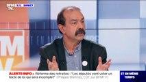"""Philippe Martinez: """"Pour le gouvernement, on a l'impression qu'il y a un syndicat unique [la CFDT], alors qu'il y en a 8"""""""