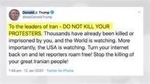 """트럼프, 이란 향해 """"시위자 죽이지 말라"""" 경고 / YTN"""