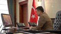 Bakan Pakdemirli, Bornova ilçe danışma kurulu toplantısına video konferansla bağlandı
