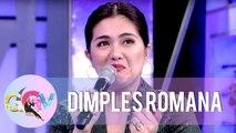 Dimples Romana becomes emotional | GGV