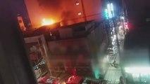 3층짜리 상가 건물에서 불...다친 사람 없어 / YTN