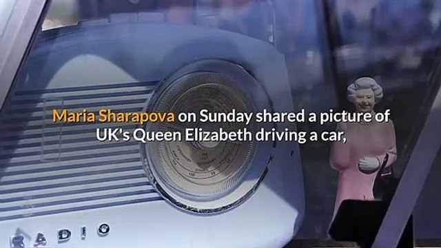 Maria Sharapova has an interesting reaction to the Queen's picture