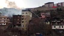 Artvin yusufeli'nde 6 katlı apartmanın çatısında yangın