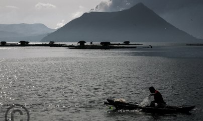 Taal Volcano eruption looms but it's business as usual for this fisherman