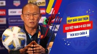 HLV Park Hang Seo cảm ơn học trò sau trận hòa trước UAE tại VCK U23 Châu Á 2020   VFF Channel