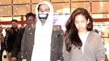 Shahid Kapoor Returns With Mira Rajput Wearing A Bizarre Mask Post His Injury On The Sets Of Jersey