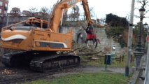 On tronçonne les arbres du Parc Fabiola, à Verviers