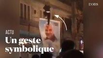 En Iran, un portrait de Qassem Soleimani piétiné, signe de défiance envers le régime