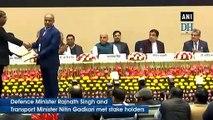 Rajnath Singh, Nitin Gadkari attend road safety stakeholders meet in Delhi