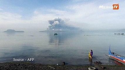 ဖိလစ်ပိုင်တွင် မီးတောင်ရှင်တစ်ခုမှ မီးခိုးပြာများမှုတ်ထုတ်