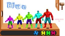 Learn Colors with Hulk and Marvel Avengers Soccer Balls Wooden Hammer Xylophone for Children Toddlers