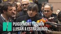 Puigdemont y Comín llegan a Estrasburgo para su primer pleno