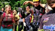 Austrian parachutist winched to safety after getting stuck 820ft off the ground