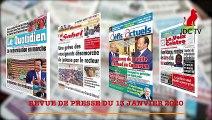 REVUE DE PRESSE CAMEROUNAISE DU 13 JANVIER 2020