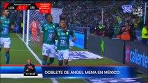 Ángel Mena hace un doblete en la Liga MX en México