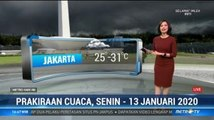 Prakiraan Cuaca Sore Hingga Malam, 13 Januari 2020