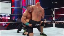 WWE Brock Lesnar VS. John Cena VS. Seth Rollins  john cena vs randy orton royal rumble 2020 match