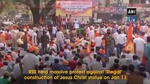 RSS protests against 'illegal' construction of Jesus Christ statue in Karnataka