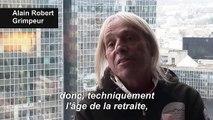 """Retraites: le """"Spiderman français"""" escalade la tour Total en soutien aux grévistes"""