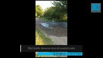 Avería en la red de agua en Villa Castells