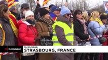 شاهد: أزمة كاتالونيا على باب البرلمان الأوروبي ومظاهرة دعم للرئيس السابق للإقليم