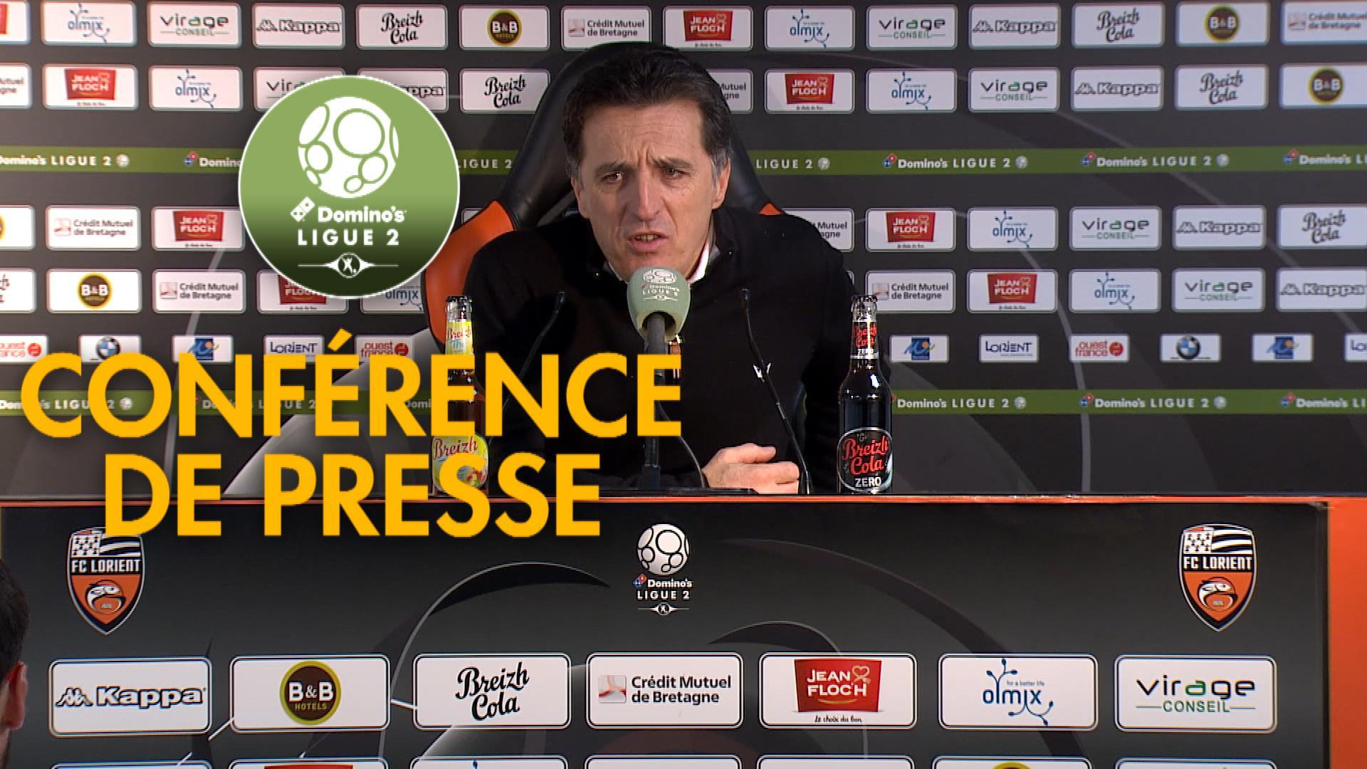 Conférence de presse FC Lorient - SM Caen (2-1) : Christophe PELISSIER (FCL) - Pascal DUPRAZ (SMC) - 2019/2020