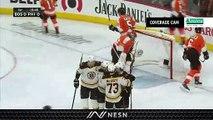 Bruins Take Early Lead Vs. Flyers As Anders Bjork Ends Goal-Less Streak