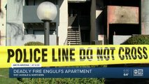 Woman, dog killed in Phoenix apartment fire