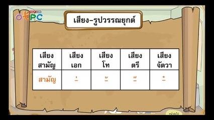 สื่อการเรียนการสอน วรรณยุกต์ไทย ป.1 ภาษาไทย