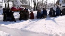 Indian soldiers brave freezing conditions to carry pregnant woman four hours to hospital