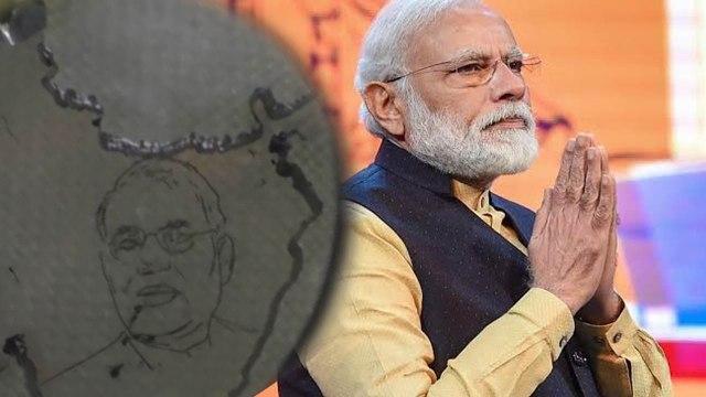 Modi's fan encraves Modi's picture on Diamond | MODI | DIAMOND | ONEINDIA KANNADA