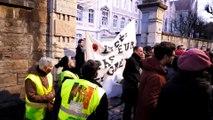 Besançon : Blocage du lycée Pasteur par l'intersyndicale contre la réforme des retraites