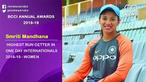 BCCI AnnualAwards 2018-19, List of Winners