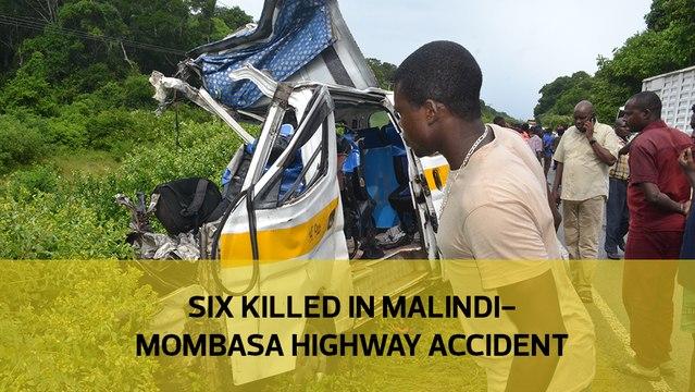 Six killed in Malindi-Mombasa highway accident