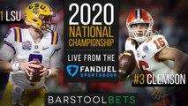 Gambling Cave Live Blog | Full Video Replay: National Championship - Clemson vs LSU
